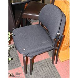 LOT OF 2 STACKABLE WAITING ROOMS CHAIRS