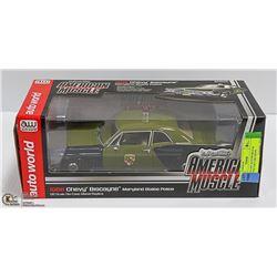 1:18 DIE CAST AUTOWORLD '66 BISCAYNE COP CAR CHEVY