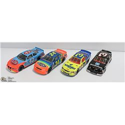 4 X 1:24 NASCAR DIE CASTS