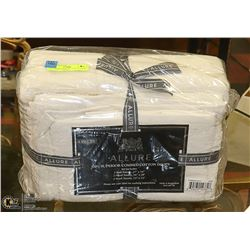 NEW IVORY ALLURE 6 PIECE TOWEL SET, 100% COMBED
