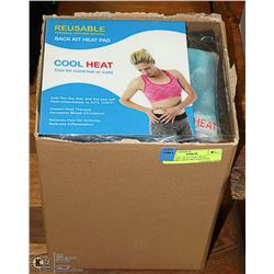 NEW CASE OF 6 COOL HEAT REUSABLE HOT OR COLD PAD