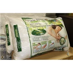 2 DELUXE QUEEN SIZE MIRACLE BAMBOO PILLOWS,