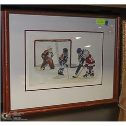 """HOCKEY PLAYERS"" LTD ED SIGNED PRINT 4/505, BY"