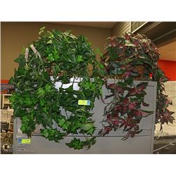 LOT OF 2 ARTIFICIAL PLANTS