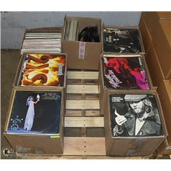 PALLET OF ROCK, COUNTRY AND POP LP'S INCLUDING