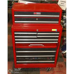 2PC CRAFTSMAN RED TOOL CHEST FILLED WITH TOOLS