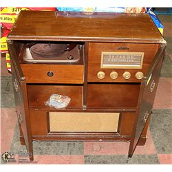 STAND ALONE RECORD PLAYER IN CABINET