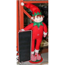 LARGE STANDING ELF WITH CHALKBOARD