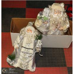 TWO FATHER CHRISTMAS FIGURES.