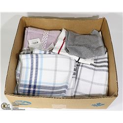 BOX OF NEW FACE CLOTHS