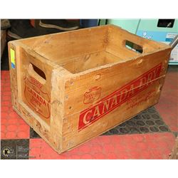 VINTAGE CANADA DRY WOOD CRATE WITH