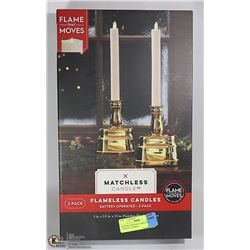NEW MATCHLESS FLAMELESS CANDLES - 2 PACK