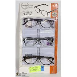 DESIGN OPTICS FOSTER GRANT READING GLASSES +1.25