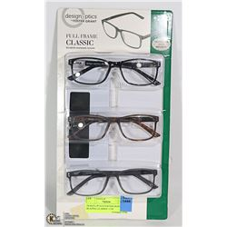DESIGN OPTICS FOSTER GRANT READING GLASSES +2.00