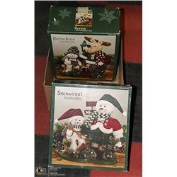 BOX WITH 2 CHRISTMAS DECORATIONS IN