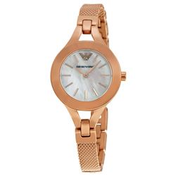 NEW EMPORIO ARMANI PEARL DIAL ROSE GOLD MSRP $415