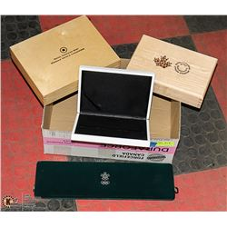 BOX WITH ROYAL CANADIAN MINT WOOD &