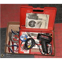 FLAT WITH SODERING TOOL SET WITH