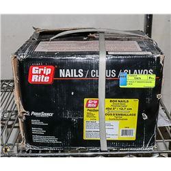 """BOX OF NAILS 5"""" SMOOTH SHANK - 22.67KG BOX"""