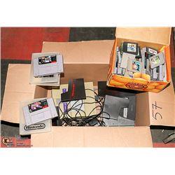 BOX NINTENDO CONSOLES & GAMES - CONVERTER, MEMORY
