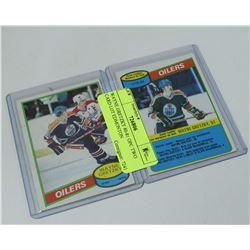 WAYNE GRETZKY 80-81 OPC TWO CARD LOT EDMONTON