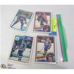 LOT OF FIVE 1980s OILERS HOCKEY CARDS: WILLY