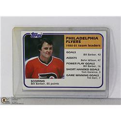1980-81 PHILADELPHIA FLYERS TEAM LEADER CARD