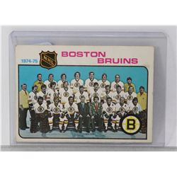 1974-75 BOSTON BRUINS TEAM CHECKLIST