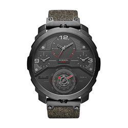 NEW DIESEL 55MM 4-TIMEZONE BLACK DIAL MSRP $475