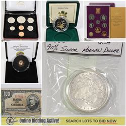 FEATURED SHOWCASE COINS, CURRENCY, COLLECTIBLES