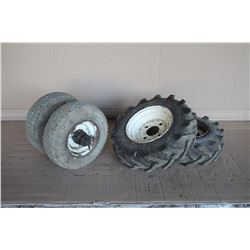 Miscellaneous tires and rims to fit feed cart
