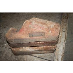 Set of 4 tractor weights