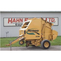 Vermeer 504M Classic round baler, net wrap, crowder wheels