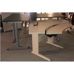2 Piece Desks (corner units) - Beige/Brown