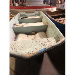 Fiberglass John Boat - White