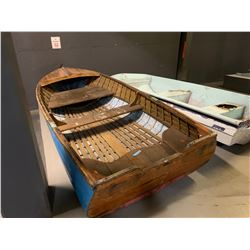 Wooden Boat - Blue