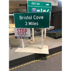 Bristol Cove Road Sign - Movie prop