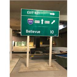 Interstate 520 Highway Sign - Movie prop