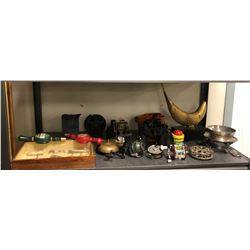Fishing, Binoculars, Antique Lures and Misc