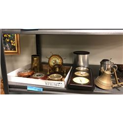 Misc barometers, Brass Bell and Assorted Goods