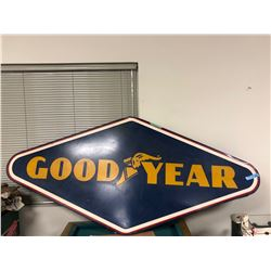 "Vintage ""Good Year"" Sign Metal"