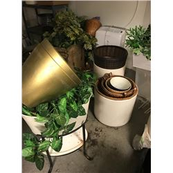 Planters and Green Plants