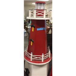 Wooden red And white LightHouse (Medium)