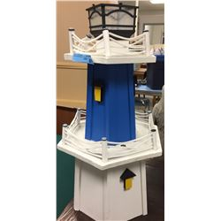 Wooden Blue and white Lighthouse (Medium)