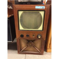 Vintage Admiral Black and White Television