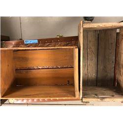 2 Antique Wooden Crates