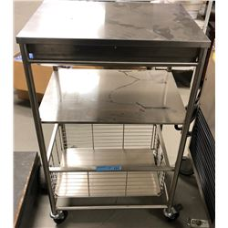 Stainless steel medical Side Cart with a drawer