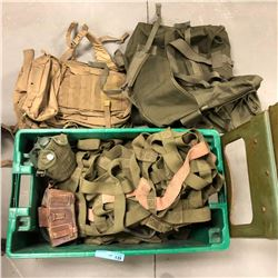 Misc military cargo net and canteen ammunition side belt