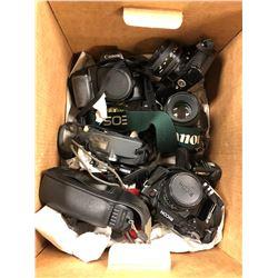 Lot of retro and modern Cameras