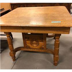Antique square kitchen table